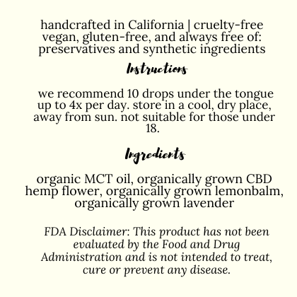 Brown Sugar Botanicals instructions for use and FDA disclaimer. This product is not a medicine.
